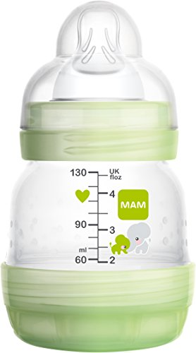 Mam FB0901M - Biberon autosterilizzante e anticoliche da 130 ml, Verde
