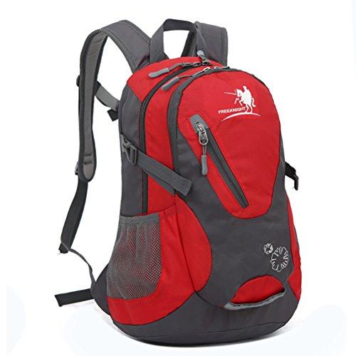 25L Professionelle Trekking Rucksäcke Camping Tasche wasserdicht Nylon Wandern Rucksack Outdoor Sports Rucksack Bergsteigen Travel Bags Rot