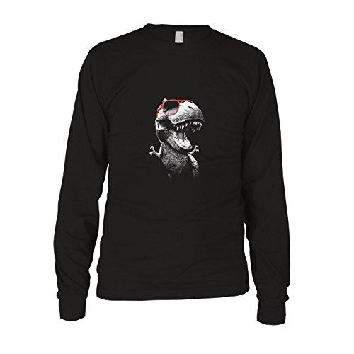 (Cool T-Rex - Herren Langarm T-Shirt, Größe: L, Farbe: schwarz)