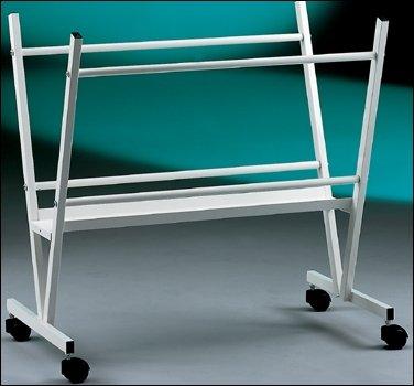 cavalletto-espositore-portaposter-in-acciaio-verniciato-bianco-o-nero-con-ruote-piroettanti-codice-p