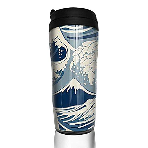 Travel Coffee Mug Japan Pattern 12 Oz Spill Proof Flip Lid Water Bottle Environmental Protection Material ABS