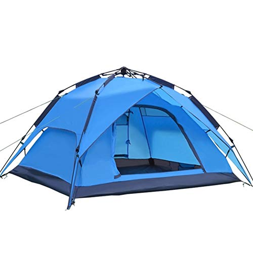 Ashuang Automatisches Campingzelt, 3-4 Personen Familienzelt Doppelschicht Sofortige Einrichtung Protable Backpacking Zelt für Wanderreisen,A1
