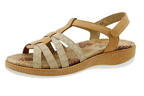Scarpe donna comfort pelle Piesanto 6906 sandali soletta estraibile comfort larghezza speciale