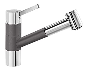 BLANCOTIVO-S robinet mitigeur, haute pression, SILGRANIT® gris rocher/chrome - 518798