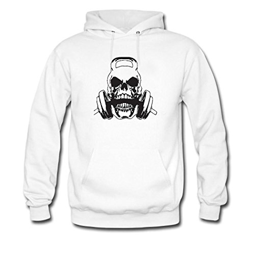 HGLee Printed DIY Custom Weightlifting Women's Hoodie Hooded Sweatshirt White--2
