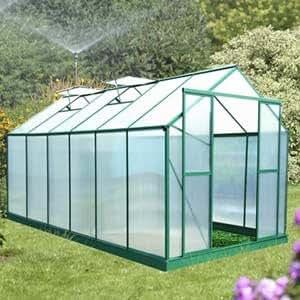 serre de jardin polycarbonate alu vert 12 8 m a monter soi m me jardin. Black Bedroom Furniture Sets. Home Design Ideas