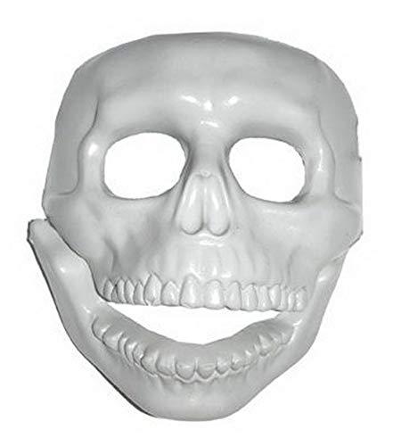 toybakery - Halloween Dekoration, Deko Totenkopf Maske, Skull Mask, ideal für Jede Halloween Party / Feier, Weiß