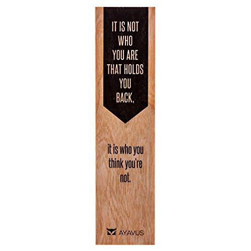 Es ist nicht, wer Sie sind, der für Sie zurück, ist es, die du sie nicht-Holz Lesezeichen Unternehmer Zitat Hipster Arrow Shark Tank selbst Verbesserung Inspirierende Zitate Made in USA