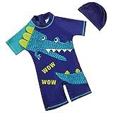 Combinaison de Bain à Manches Courtes Tee Shirt Anti-UV Leotard Maillot de Bain avec...