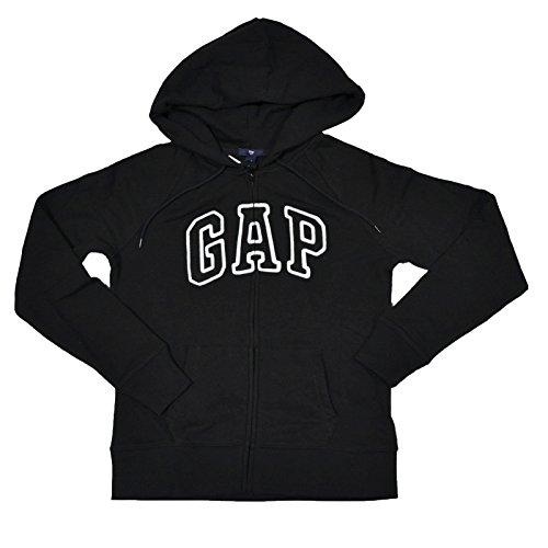 GAP Damen Fleece Arch Logo Full Zip Hoodie (S, Schwarz) -