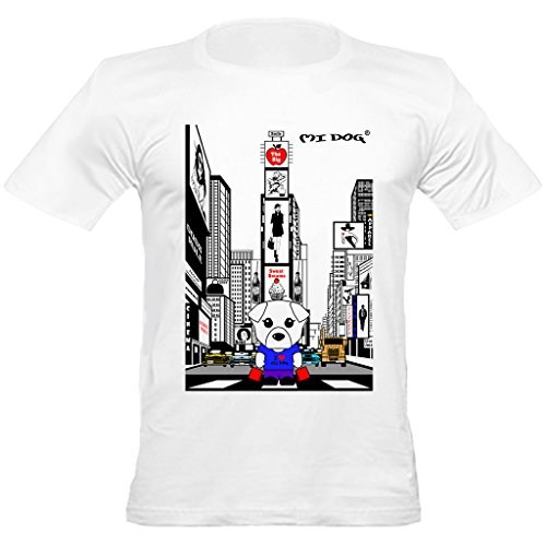 Mi Dog Mens, in New York Times Square Fitted T Shirt