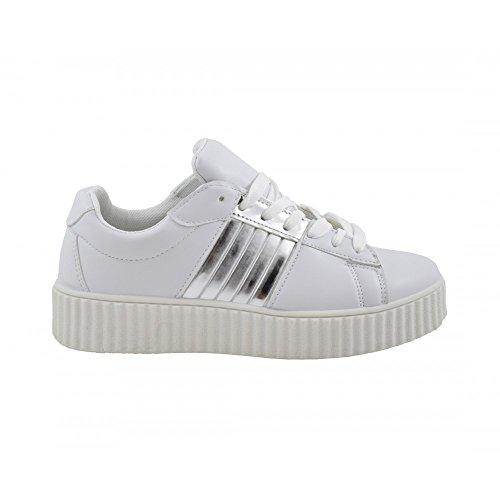 Benavente, Sneaker donna bianco argento