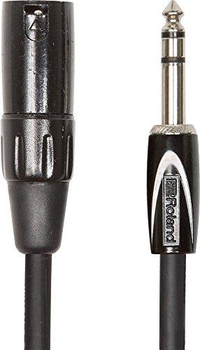 Roland Black-Serie symmetrisches Verbindungskabel - 6,3-mm-TRS-Klinke (männlich) auf XLR (männlich), Länge: 3m - RCC-10-TRXM