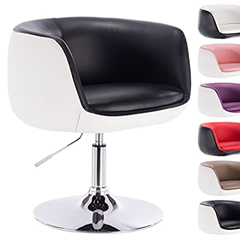 Woltu BH42szw-1 1 x PU swivel sofa chair upholstered tub chair height adjustable bar stool two-colored