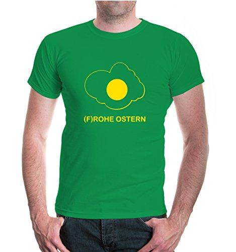 buXsbaum® T-Shirt Frohe Ostern Kellygreen-Sunflower