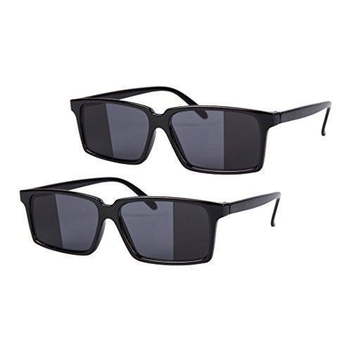 2 x schwarz Spiegel Rückansicht SPY Brille