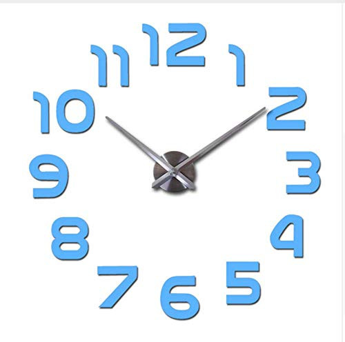 rzuhr Große Uhren Nadel Europa Wohnzimmer Haushalt Dekor Aufkleber Sky Blue 37 Zoll Beste Geschenk, FQM ()