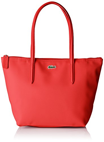 Lacoste Sac Cabas Cuir Femme, Bandouliere, Rouge (High...