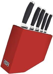 Stellar James Martin 5 Piece Red Knife Block Set