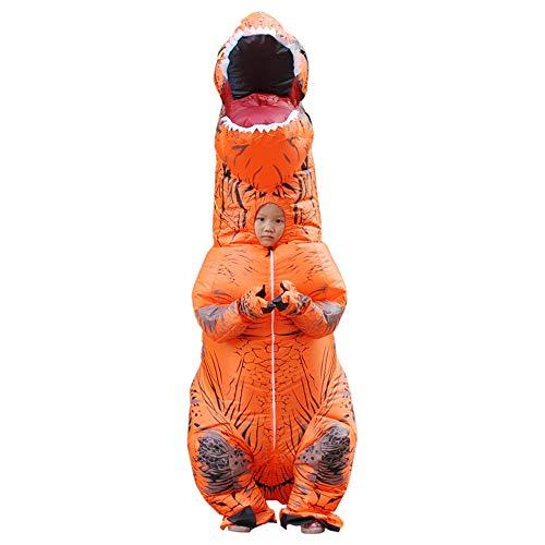 WJHCE Jurassic Aufblasbare T-Rex Kostüm Funny Weihnachten Cosplay für Erwachsene,Orange,Kids (Orange Trex Kostüme Für Kinder)