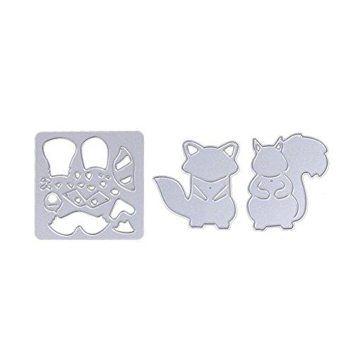 dairyshop Eichhörnchen Formen Schablonen Form Scrapbook Album Papier Prägung DIY Craft (Silber Scrapbook Prägung)