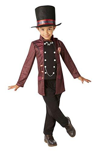 Willy Wonka - Charlie und die Schokoladen Fabrik- Kinder Kostüm - Groß - 128cm - Alter (Wonka Outfit Willy)