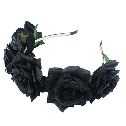 SZTARA Girl Bride Rose Flower Crown Wedding Festival Headband Hairband Floral Garland Headpiece Test