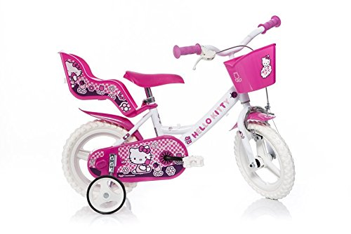 WDK Partner - A1304159 - Vélo pour Enfant - 1 Frein - Hello Kitty - 12 pouces