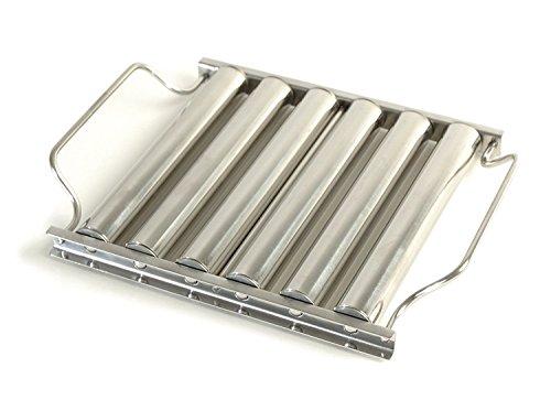 Charcoal Companion Grille à Rouleaux pour Hot-Dogs en Acier Inoxydable, Argent, 4,7x22,86x21,41 cm