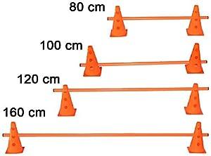 agility sport pour chiens - haie de coordination, 23 cm, jalon: 160 cm, orange - 2x MZK23o 1x 160o