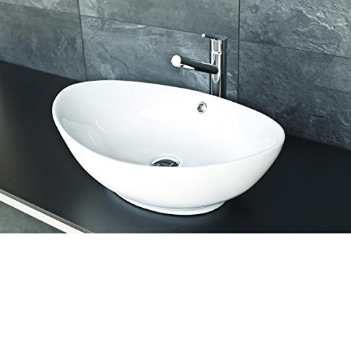 Ovales Design Keramik Aufsatz Waschbecken / Waschschale Modell 46