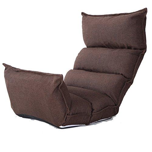 Divano sedia multifunzione in pp materiale cotone casual lounge chair balcone pieghevole sedie da ufficio sedia siesta marrone blu grigio viola (colore : marrone)