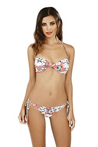 Hari Deals Damen Bikini-Set, Geblümt Mehrfarbig Mehrfarbig Mehrfarbig - Coral White