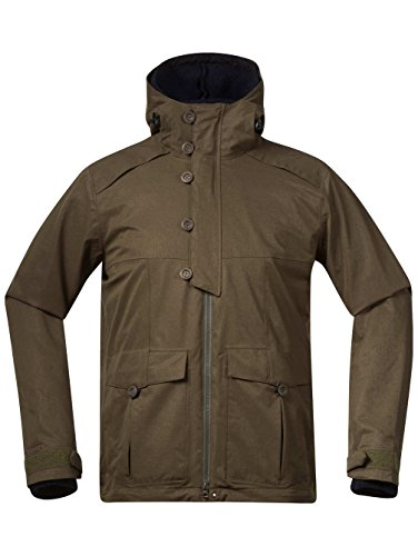 Bergans Damen Bjerke Mantel Softshell army green/midnight blue