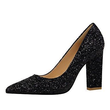 Sanmulyh Femmes Chaussures En Simili-cuir Printemps Automne Talons Confort Bout Pointu Pour Robe Champagne Royal Bleu Rouge Argent Arc-en-noir