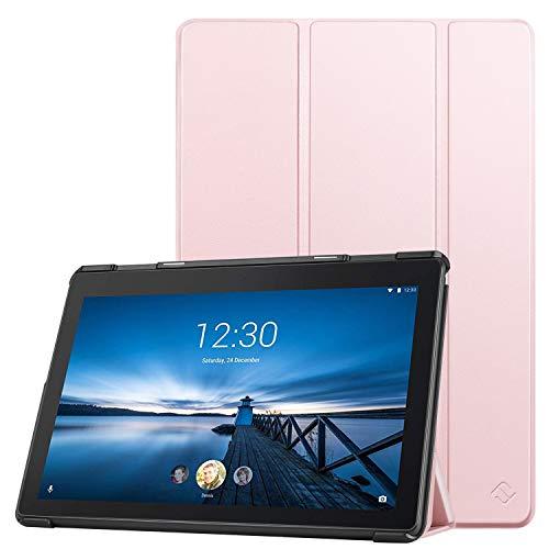 Fintie Hülle Kompatibel für Lenovo Tab E10 - Ultradünne Superleicht Schutzhülle mit Standfunktion für Lenovo Tab E10 10,1 Zoll Tablet 2019, Roségold