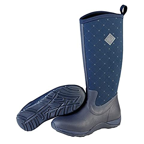 Muck Boots Arctic Adventure Womens Wellies UK 5 Navy Castlerock Print