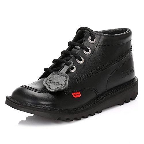 Kickers Kick Hi y Core nero pelle Hi top stivali giovanile taglie Nero (nero)