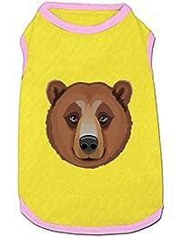 DGGGD Chaleco para Perro, la Cabeza de un Adulto marrón Oso Impreso para Mascota,