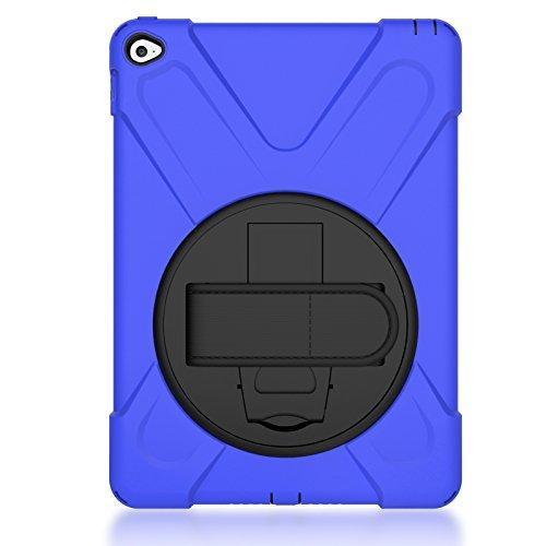 Aprigy - F¨¹r iPad Mini 1/2/3 STO?- Kinder-Schutz-Fall f¨¹r iPad Mini 3 Heavy Duty Silikon Hard Cover St?nder Design Hand armschm [Dunkelblau ] (Ipad Fälle Für Kinder Mini)
