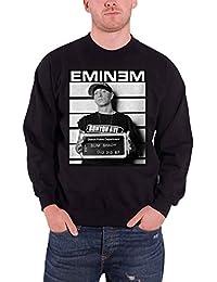 Eminem Uomo Felpa Nero Arrest Slim Shady Logo Ufficiale 99861da3e4fa