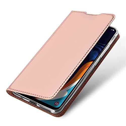 Brand Set Funda Xiaomi Mi 8 Pro,Funda de Cuero con Tapa Plegable,Material de PU con función de Soporte Hebilla magnética Invisible Funda Ultrafina para teléfono móvil para Xiaomi Mi 8 Pro-Oro Rosa