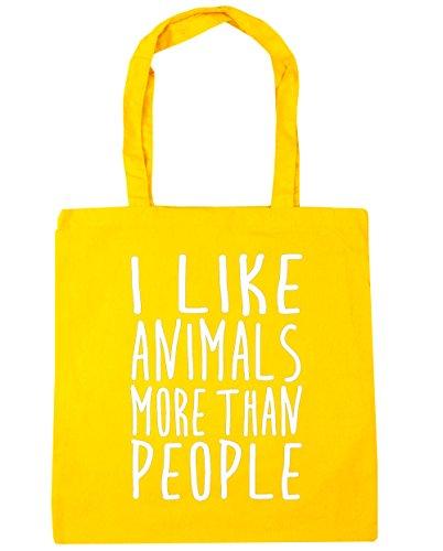 hippowarehouse-i-like-los-animales-ms-de-personas-bolsa-de-la-compra-bolsa-de-playa-42cm-x38cm-10lit