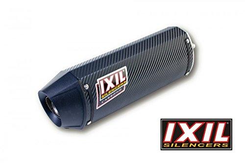 IXIL carbone hexoval Xtrem GSX 1000 R, 07-08, 2-1 pot individuel droite, Embout noire, Racing