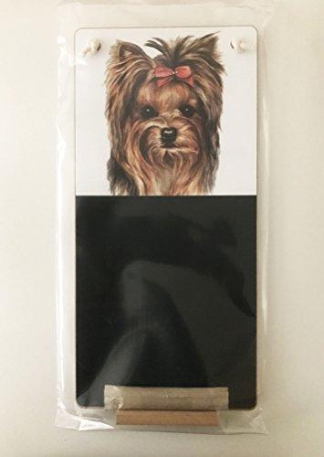 Yorkshire terrier/Yorkie Dog Lover Gift-Fabulous Kitchen Chalkboard misure h36.5cm x 17.5cms confezionato in