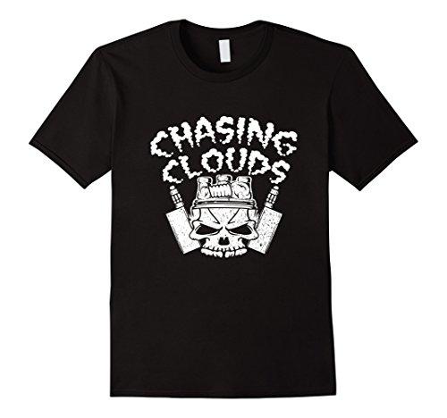 Chasing Clouds Vape T Shirt For Vaping Herren, Größe 2XL Schwarz