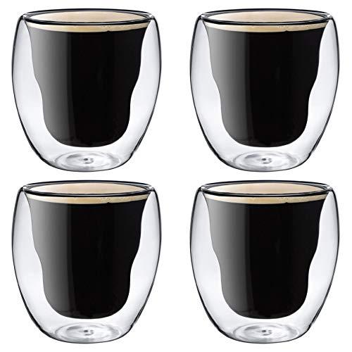 Rink Drink doppelwandige Thermo-isolierte Trinkgläser - 4er Geschenkbox