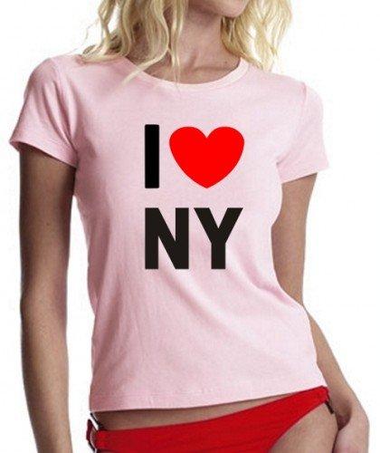 I LOVE NY ! GIRLY T-SHIRT rosa Gr.XL
