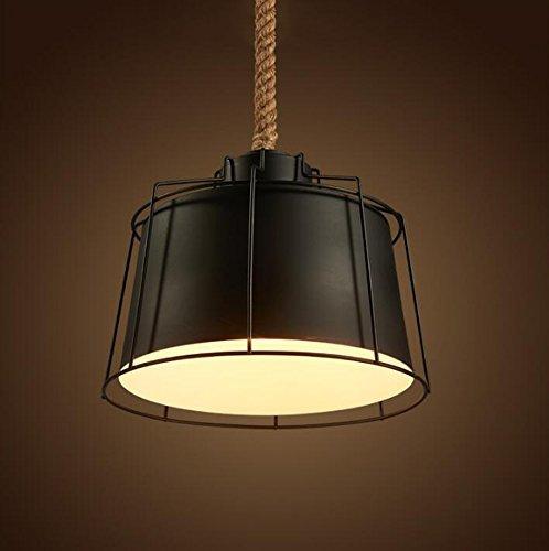 CCYYJJ Seil Pendelleuchte, Bügeleisen Loft Retro Einköpfige E 27 Bar Industrial Kronleuchter Café Bar Deckenleuchte Schlafzimmer Studie Licht Kreative Lager Anlage Kronleuchter Engineering Lampen Mode. Z (Größe: 33 * 134 Cm) (Loft-anlage)