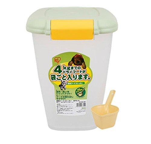 Scoop-speicher (Tossi Pet Dry Food Container Speicher 4Kg Mit Scoop Bird Cat Hund Animal Wurf Dry Box,Green)